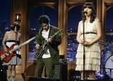 """Zooey Deschanel sings with her band at """"The Late Late Show with Craig Ferguson"""", April 28"""