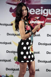 Adriana Lima 'La Vida es Chula' by Desigual in Barcelona 06-30-2014