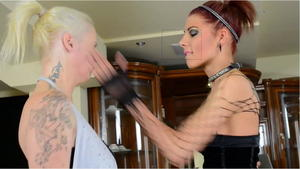 Hunt Erotic: Faceslapping -By Domina Lia And Her Slave Carola
