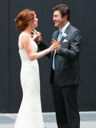 Ellie kemper gets married at the church of the blessed sacrament in